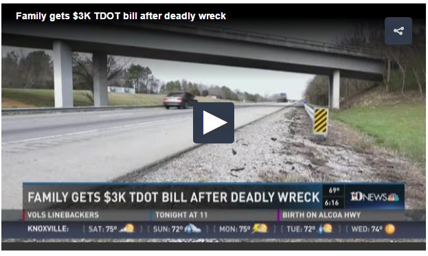 Dead teen billed for guardrail that killed her