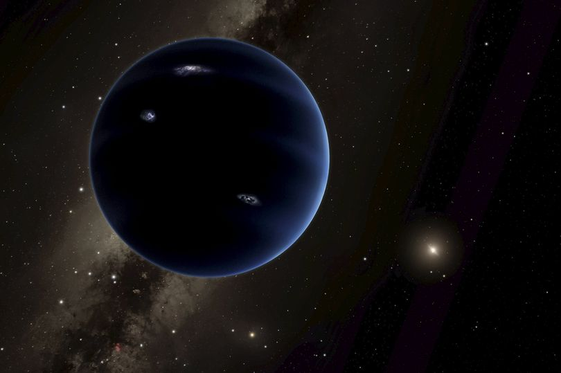 "An artist's rendering shows the distant view from ""Planet Nine"" back towards the sun (Photo: Reuters)"